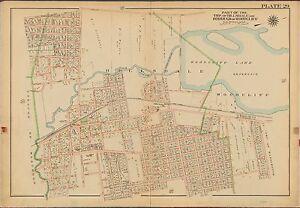 BROMLEY FRANKLIN OAKLAND BERGEN COUNTY NEW JERSEY 1913 G.W COPY PLAT ATLAS MAP