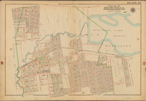 1913 GW BROMLEY WOODCLIFF HILLSDALE BERGEN COUNTY NEW JERSEY COPY PLAT ATLAS MAP