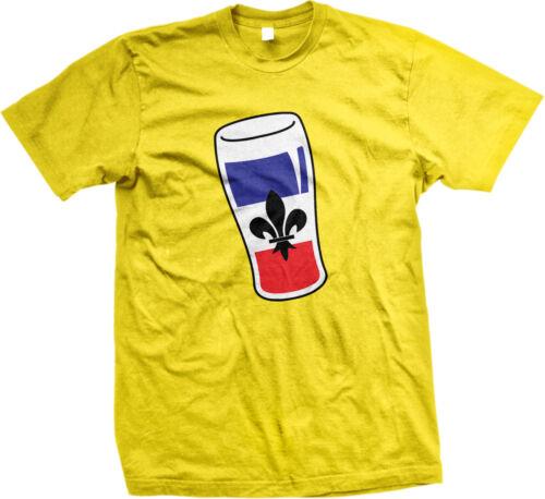 France French Flag Beer Glass Française Pride Fleur-de-lis Mens T-shirt