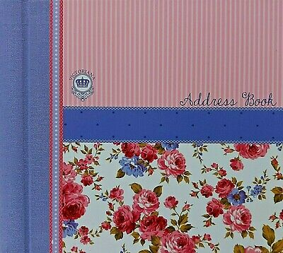 Address Book Hardback Victoriana Sweet Posy Spiral Bound A-Z Floral Address Book
