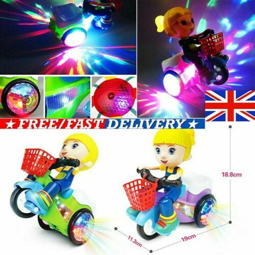 Toys for Kids Car 360° Stunt Rotating Tricycle Music Lighting Toys Electric Gift