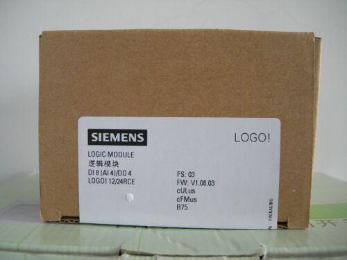 6ED1052-1MD08-0BA0 Siemens LOGO //4 DO 8 DI 12//24V DC//RELAY 4AI 12//24RC,PLC