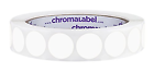 """3 4"""" White Color Code Dot Labels on Cores Permanent Adhesive 0.75"""" 1 000 Roll"""