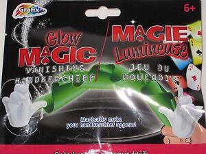 Glow Magic Vanishing Handkerchief Magic Trick - Close-Up Magic, Novelty Illusion