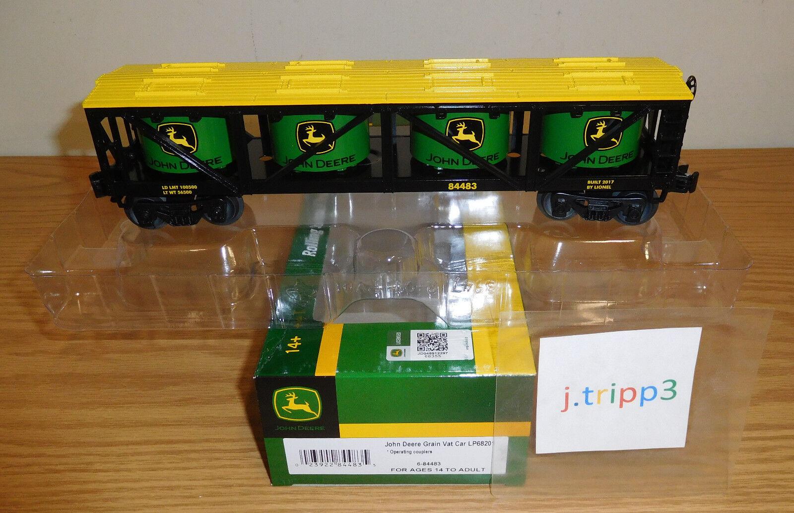 venta mundialmente famosa en línea Lionel 6-84483 John Deere Farm grano IVA Coche de Juguete Juguete Juguete Tren o calibre del ferroCocheril de Cochega  clásico atemporal