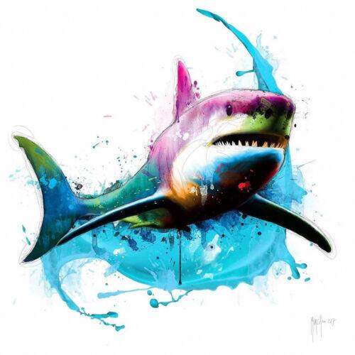 SHARK BY PATRICE MURCIANO POP ART PRINT KEYRINGS-MUGS-ART PRINT