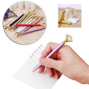 Diamond-Head-Rhinestones-Ball-Pen-Concert-Pen-Creative-Pen-Student-Stationery