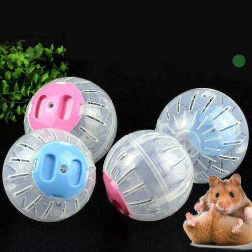 Home Pet Funny Running Ball Plastic Grounder Jogging Toy Hamster Exercise S S9V6