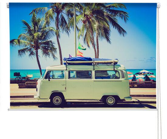VW caravanas Tropical Palma Persiana Enrollable de fotografía impresa hecho a la medida persianas