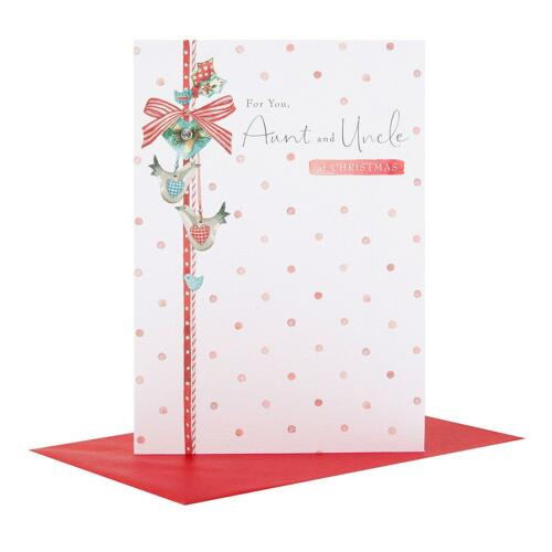 Hallmark Traditional Auntie /& Uncle Christmas Card /'Warm and Wonderful/'  New Gif