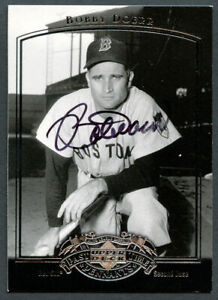 Bobby Doerr #9 signed autograph auto 2005 UD Past Time Pennants Baseball Card
