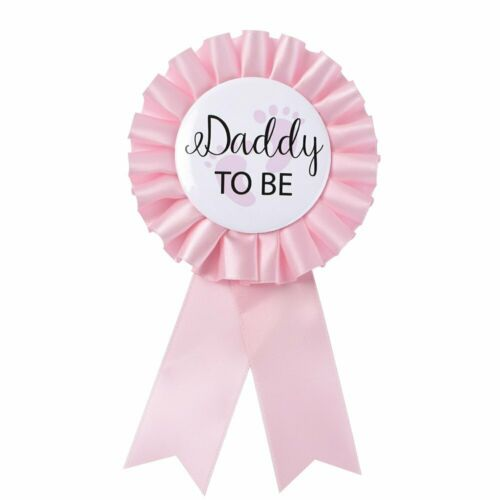 """Baby Shower Button New Dad Gifts Gender Revea Daddy to Be/"""" Tinplate Badge Pin"""