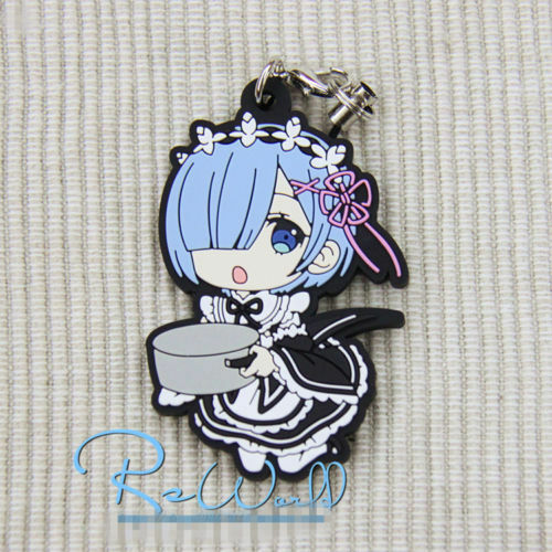 TT167 Re Zero Kara Hajimeru Isekai Seikatsu Anime Rubber Strap Keychain Rem