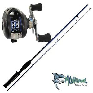New-Bait-caster-Rod-amp-Reel-Combo-1-7-meter-rod-Fishing-combo-shore-kayak-boat-RH