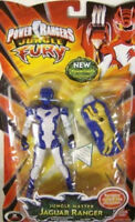 Power Rangers Jungle Fury 6 Inch Tall Action Figure - Jungle Master Jaguar Ranger with New Powerized Uniform and Rangers' Jungle Tag For Battle Sounds - 00045557300180 Toys