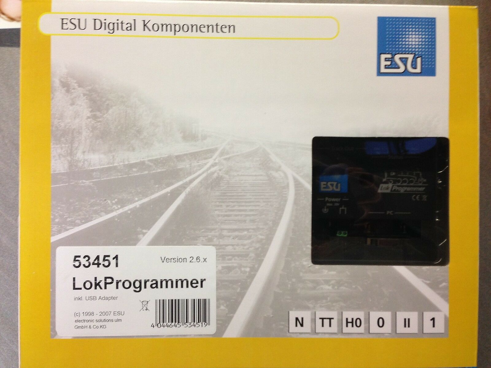 +++ esu 53451 lokprogrammer incl. adaptador USB