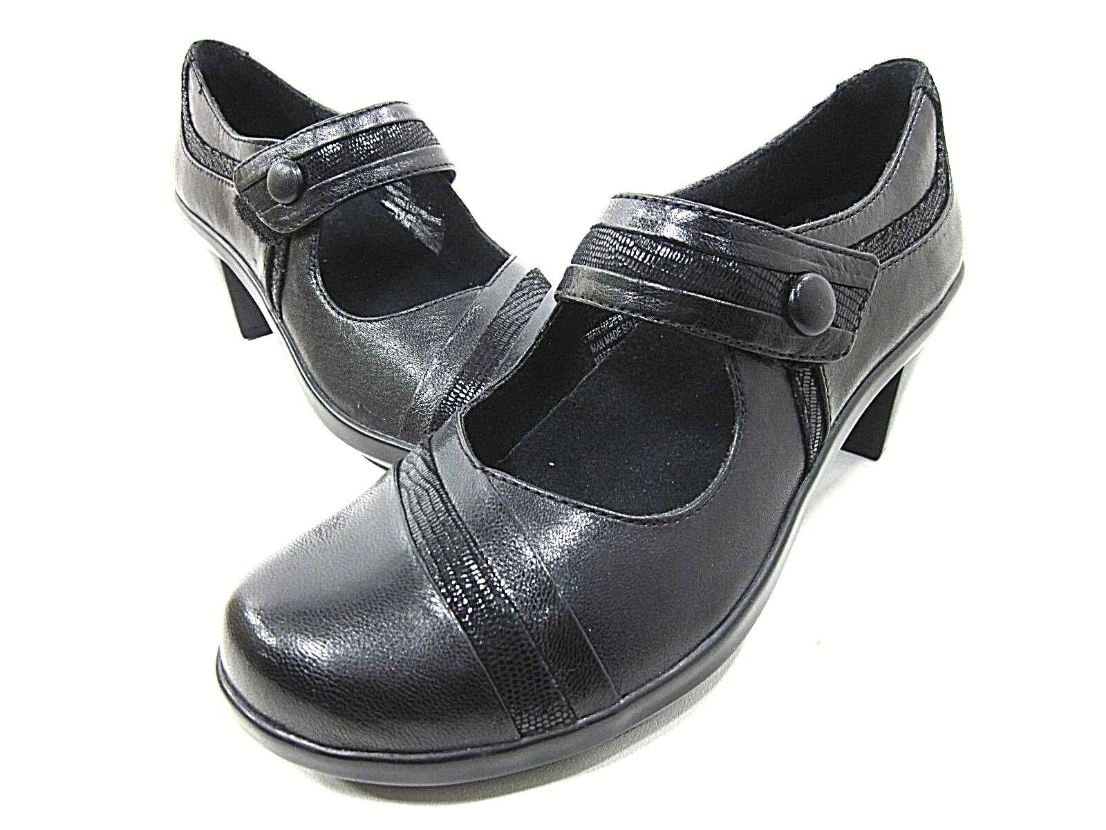 ARAVON, ANNA MARY JANE SHOES, WOMEN'S, BLACK, US SIZE 6.5 AA Narrow, NEW