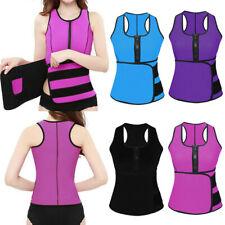 Lady Sauna Waist Trainer Vest Adjustable Slimming Sweat Belt Body Shaper Workout