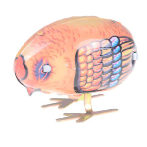 1PC-Wind-Up-Chick-Tin-Toy-Pecking-Bird-Vintage-Retro-Farm-Animal-Baby-ChicLD