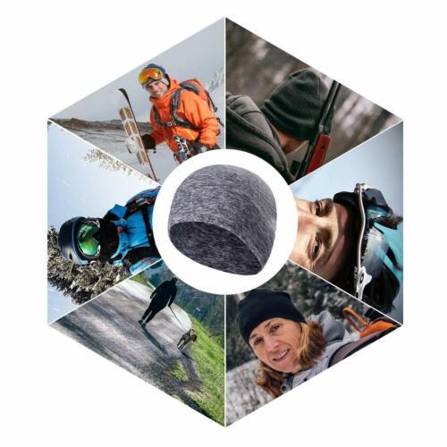 Winter Skull Cap Helmet Liner Thermal Fleece Lined Cycling Running Beanie Hat US