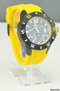 Neu Uhr Guess Gelb Gummi Herren Neuf U0034g7 Deu üPpiges Design Armband- & Taschenuhren