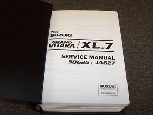 2005 suzuki grand vitara xl 7 shop service repair manual book 2 5l rh ebay com 2004 Suzuki XL7 2005 Suzuki XL7 Gas Mileage