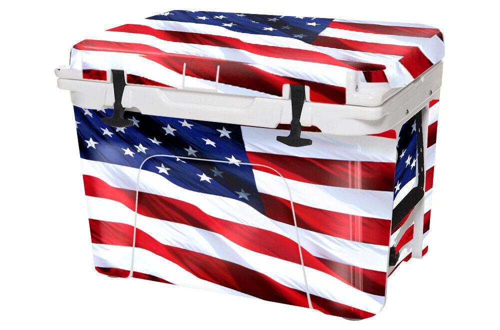 Usatuff REFROIDISSEUR Autocollant Wrap Convient Yeti Toundra intégrale 75 QT USA Stars Couleur
