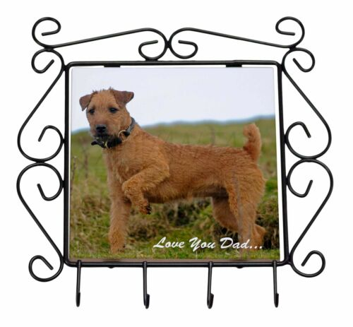 Lakeland Terrier 'Love You Dad' Wrought Iron Key Holder Hooks Christma, DAD73KH