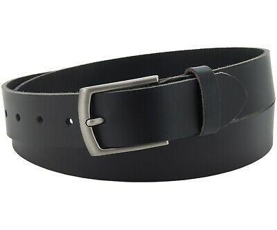 Büffel Ledergürtel 3,5 Cm Herren Damen Belt Echt Voll Leder Gürtel Schwarz Nr.13 PüNktliches Timing