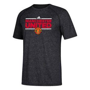 Manchester-United-F-C-Premier-League-Adidas-Men-039-s-Black-Dassler-Local-T-Shirt