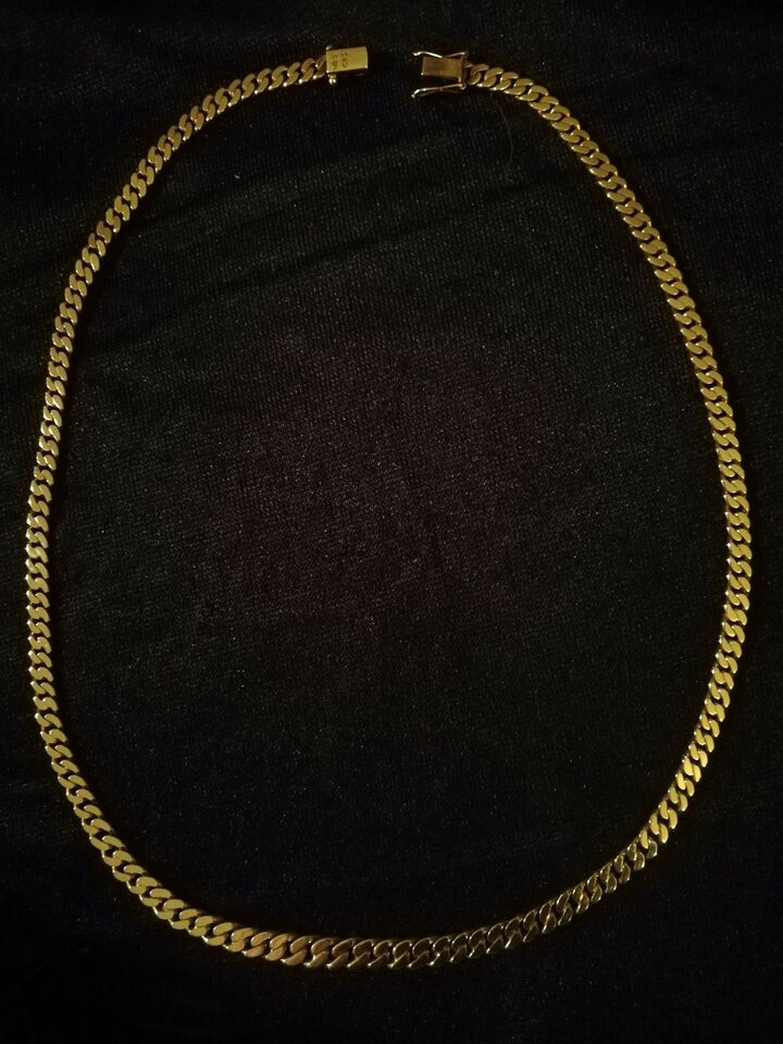 Halskæde, guld, 14k