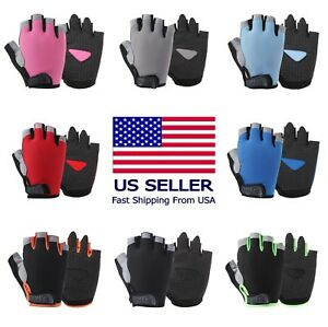 Sports Racing Bicycle Cycling Motorcycle MTB Bike Fitness Gel Half Finger Gloves