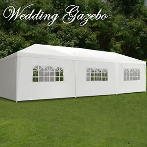 10-039-x30-039-Gazebo-Canopy-Party-Tent-Wedding-Outdoor-Pavilion-Cater-BBQ-Waterproof
