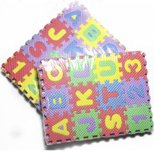 36Pc Alphabet Play Mat BABY SOFT FOAM Puzzle Letters /& Numbers