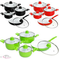 8 Piece Ceramic Cooking Pots Lids Pan Pot Saucepan Cookware Set