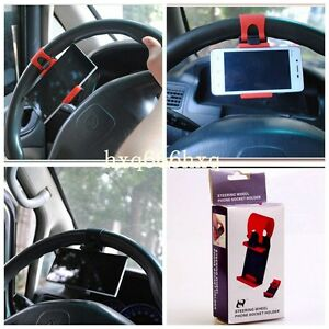 Universal Cell Phone Car Steering Wheel GPS Mount Holder For iPhone Samsung HTC