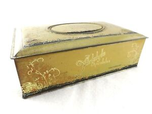 Rare-Vintage-Art-Style-Metal-Candy-Box-Tin-With-034-Mother-034-Standing-Picture