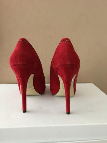 En Us8 5 Mesdames Uk6 5 Rouge Taille Daim Chaussures Bnwob Devinez YxanqOwEq