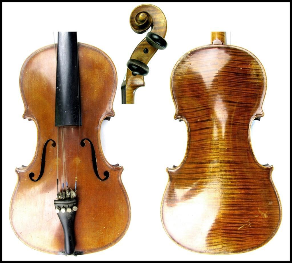 Fino violín alemán antiguo en muy buenas condiciones ningunas grietas grietas grietas sólo necesita un set up a74094