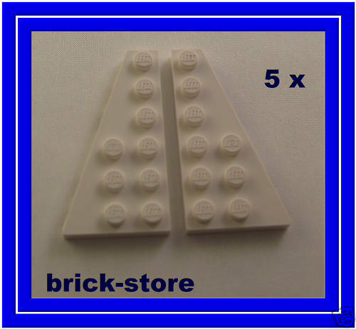 LEGO 5x BIANCA 3x6 sinistra e destra obliquo//piastre zeppa