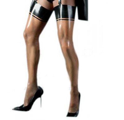 Full Body Stocking Sack 30 Denier Foot Tights Pantyhose Nylons Fetish UK Black