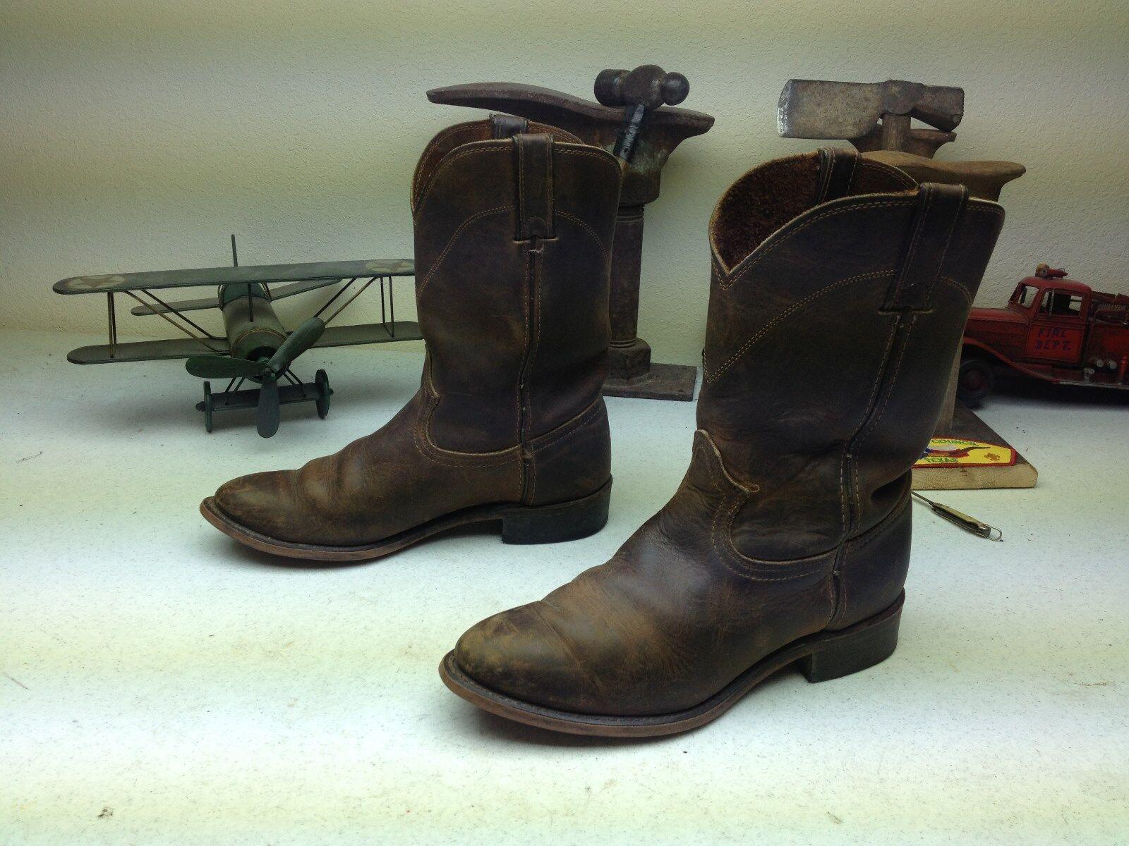Envejecido Durango cuero marrón de vaquero occidental Ingeniero trabajo botas D
