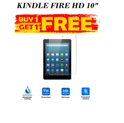 """Buy1 Get1 Free Tempered Glass Screen Protector For Amazon Kindle Fire Hd10.1"""" Kaufen Sie Immer Gut"""