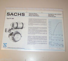 Typenblatt / Technische Daten Sachs Stationär Motor ST 282 - Stand 1980!