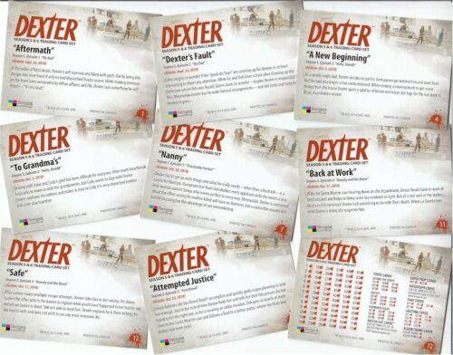 Dexter Seasons 5 /& 6-72 Card Basic//Base Set Breygent 2015