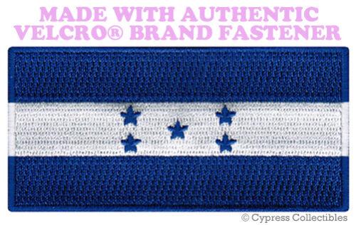 HONDURAS FLAG PATCH EMBROIDERED new SOUVENIR PARCHE w// VELCRO® Brand Fastener