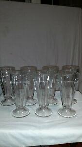 Vintage-Tall-Heavy-Soda-Fountain-Glasses-Set-Of-7