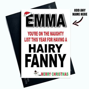 Personalized Christmas Cards.Details About Personalized Christmas Cards Rude Funny Hairy Fanny Colleague Girlfriend Pc1065