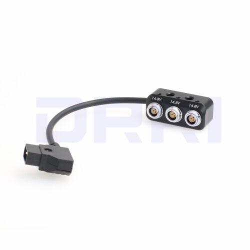12V Power Splitter Box 3x RS 3pin to dtap splitter cable for ARRI ALEXA Mini