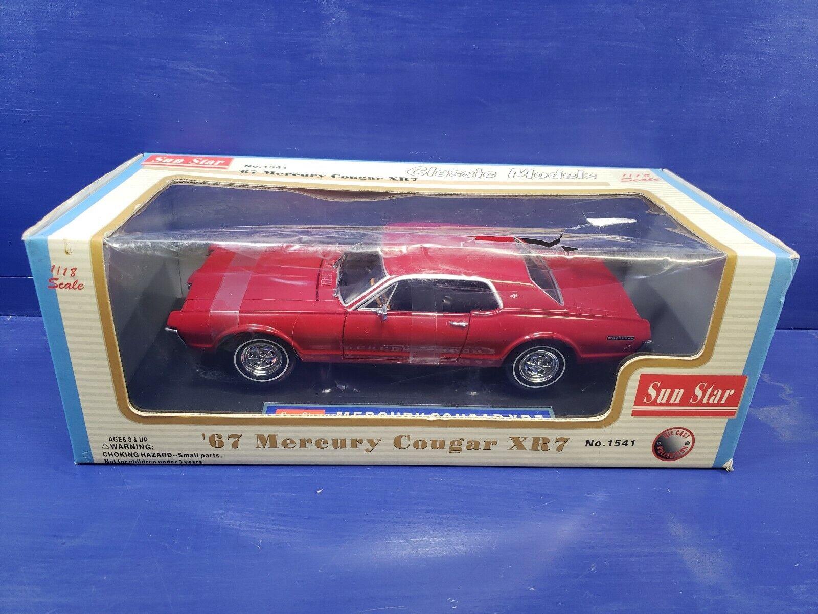 1 18 1967  MERCURY COUGAR xR7 par Sun Star  produit de qualité d'approvisionnement